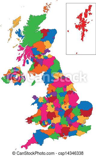 Mapa del Reino Unido - csp14346338