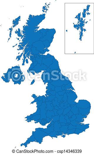 Un mapa del reino Unido - csp14346339