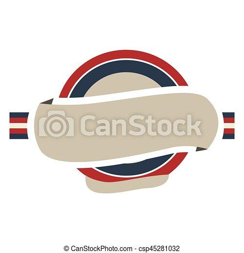 Reino, unido, color, marco, etiqueta, bandera, circular. Reino ...