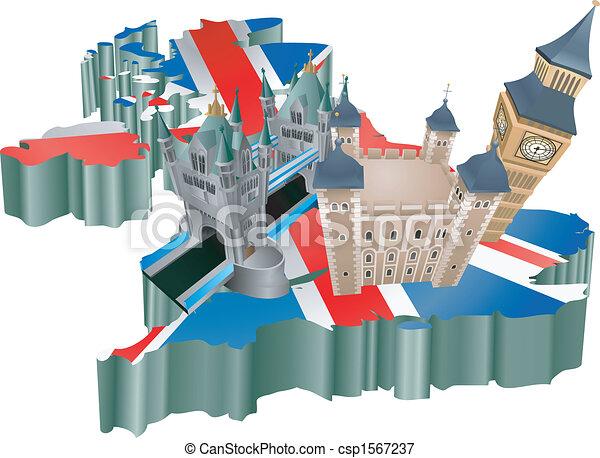 El turismo del Reino Unido - csp1567237