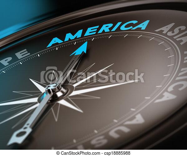 reis bestemming, -, amerika - csp18885988