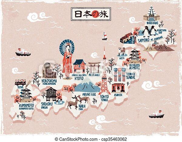 Reise Japan Landkarte Design Japan Reise Design