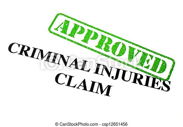 reivindicação, criminal, aprovado, ferimentos - csp12651456