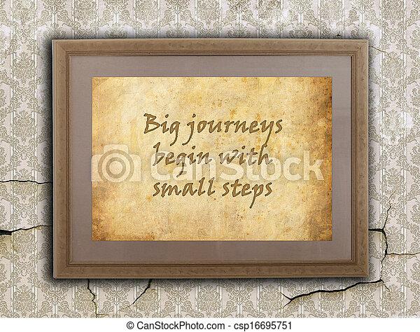 reizen, groot, kleine, stappen - csp16695751