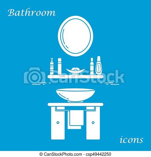 Reizend, badezimmer, waschbecken, vielfalt, handtuch,... Clipart ...