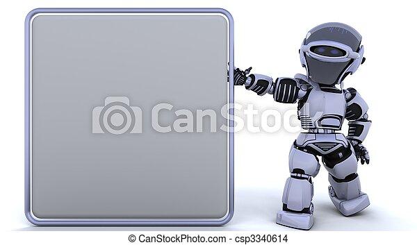 Süßer Roboter Cyborg - csp3340614