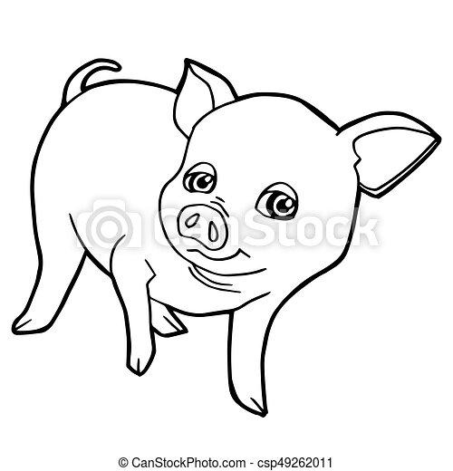 Erfreut Grund Schwein Färbung Seite Zeitgenössisch - Ideen färben ...