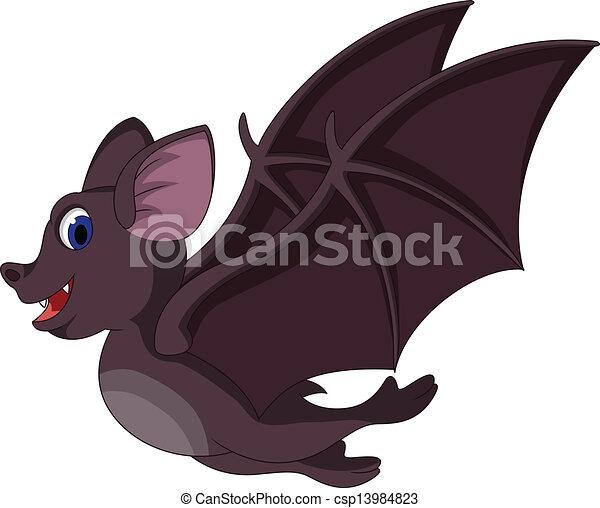 reizend, fledermaus, fliegendes, karikatur - csp13984823