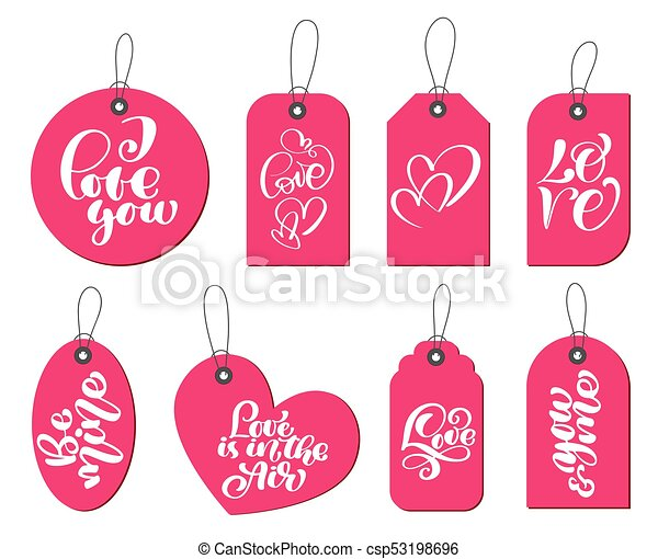 Reizend Liebe Romantische Geschenk Etikettiert Liebe Valentinestag Sammlung Hand Inschrift Hochzeit Thema Geburstag Gezeichnet Wedding