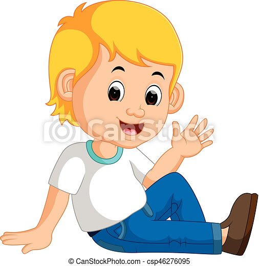Reizend sitzen boden junge junge boden reizend for Boden cartoon