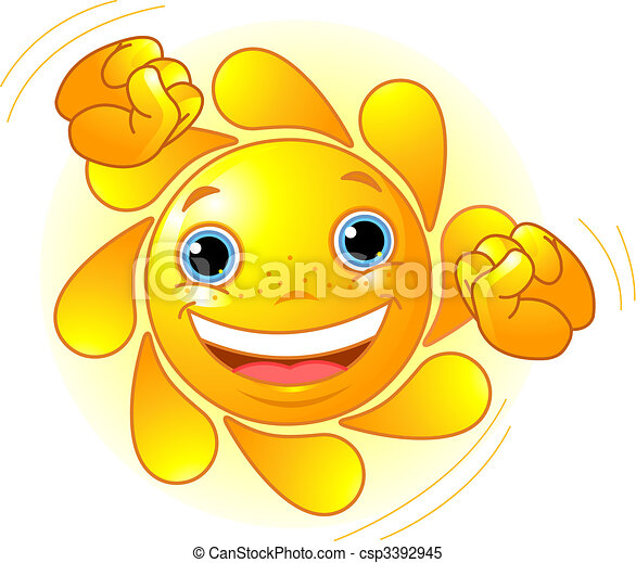 Süße tanzende Sonne - csp3392945