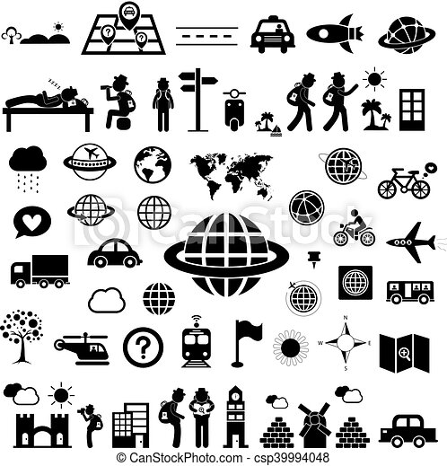 reiziger, ontdekkingsreiziger, pictogram - csp39994048