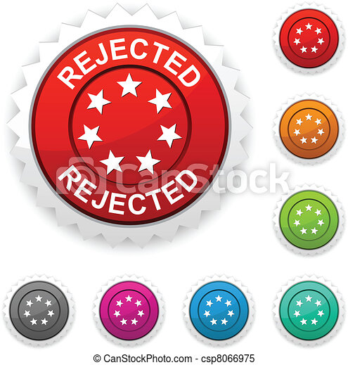 Rejected award button. - csp8066975