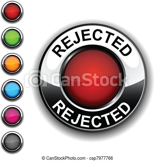 Rejected button. - csp7977766