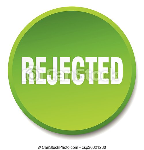 rejected green round flat isolated push button - csp36021280