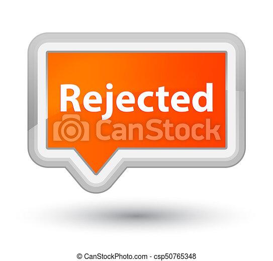 Rejected prime orange banner button - csp50765348