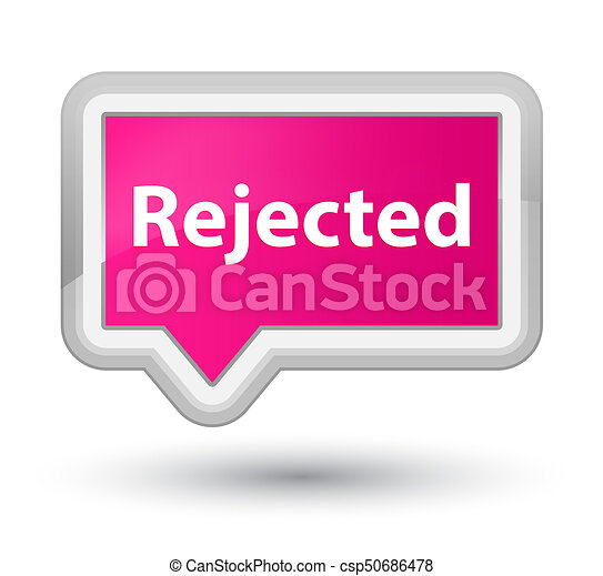Rejected prime pink banner button - csp50686478