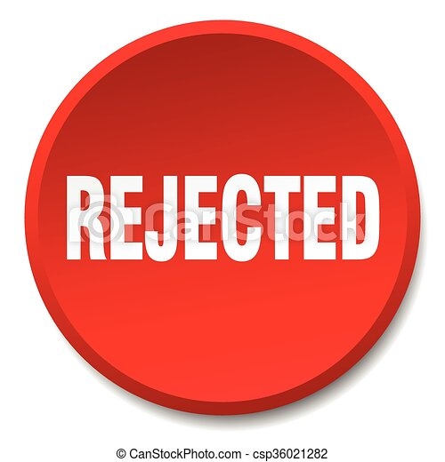 rejected red round flat isolated push button - csp36021282