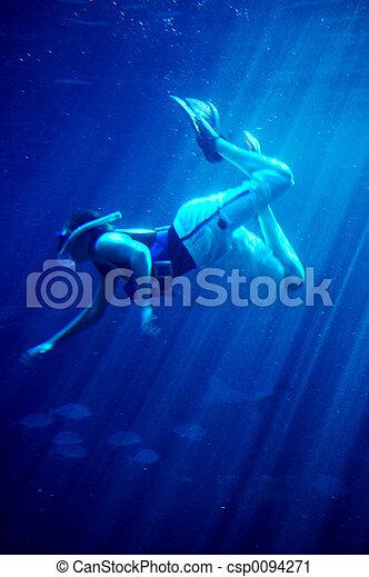 rekiny, nurkowanie, #2 - csp0094271
