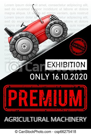 reklama, barwny, afisz, mechanizm, rolniczy, wystawa - csp66275418