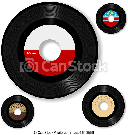 rekord, 45 rpm, retro - csp1610556