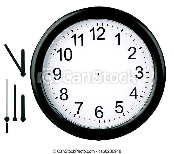 relógio, isolado, redondo - csp0230940
