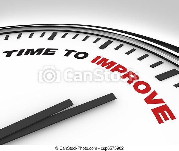 relógio, -, melhoria, prazo de entrega, plano, tempo, melhorar - csp6575902