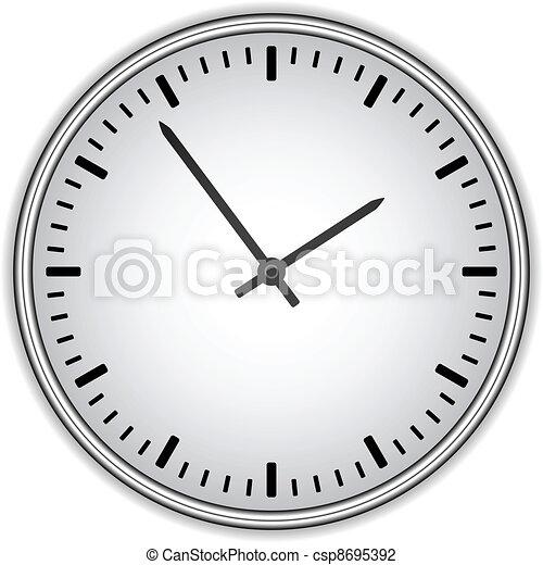 relógio, -, rosto, vetorial, fácil, tempo, mudança - csp8695392