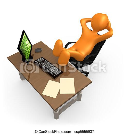 Relajarse en la oficina - csp5555937
