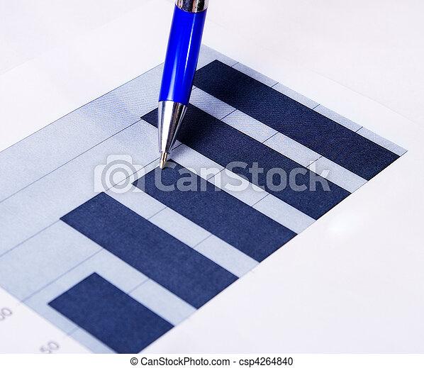 relatório, caneta, concept:, finanças, negócio - csp4264840