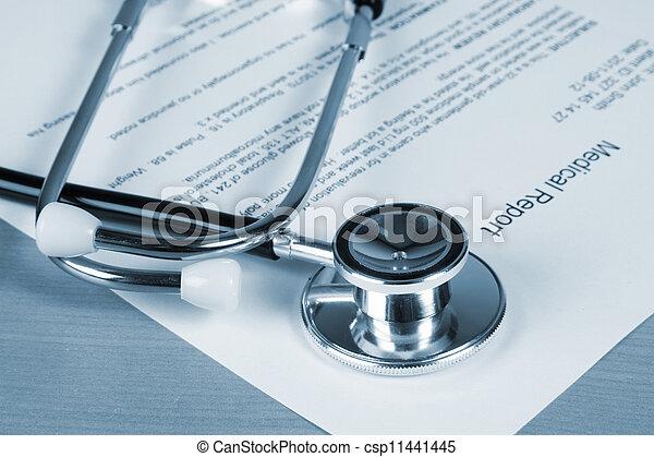 relatório, médico - csp11441445