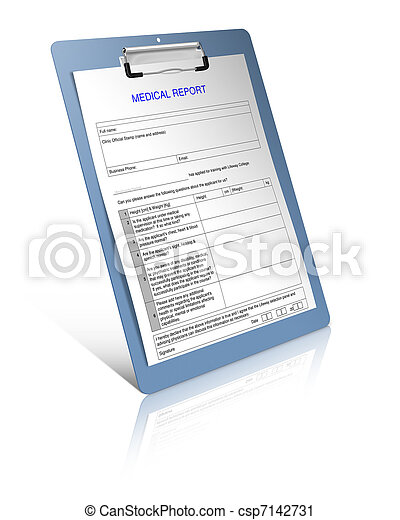 relatório, médico - csp7142731