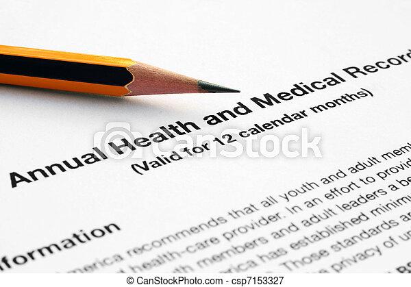 relatório, médico - csp7153327