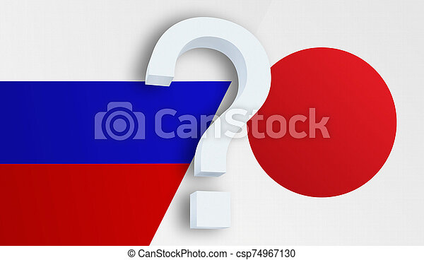 Relationship between the Russia and the Japan - csp74967130