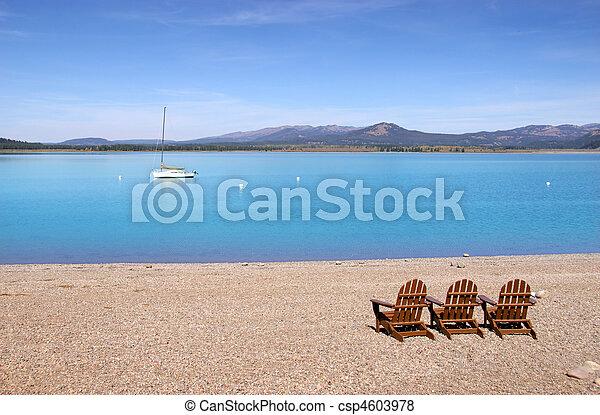 Relax at Jackson lake - csp4603978