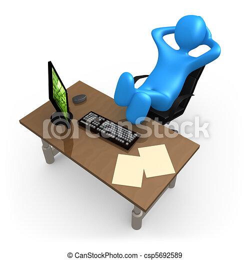relaxante, escritório - csp5692589