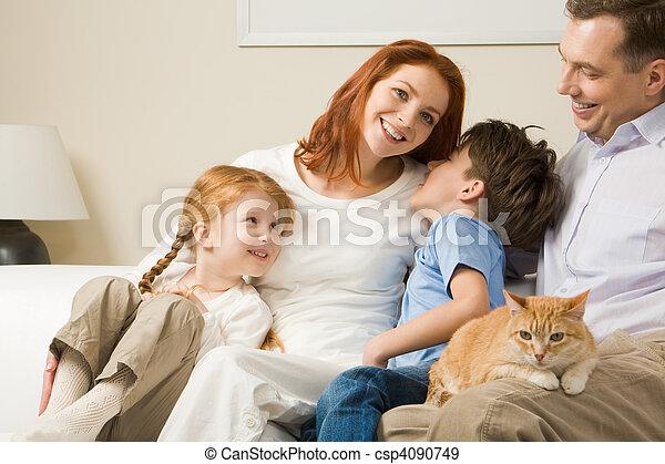 relaxante, família - csp4090749