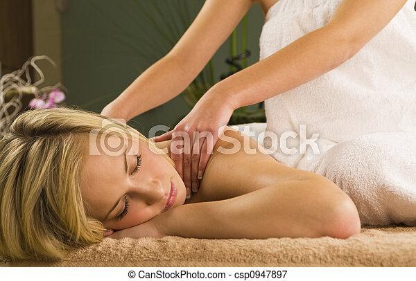 relaxante, massagem - csp0947897