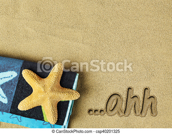 Relaxation concept on the beach - csp40201325