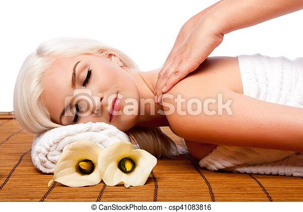 Relaxation pampering shoulder massage spa - csp41083816