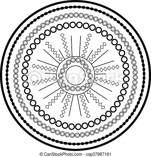 Relaxing coloring page with mandala for kids and adults, art therapy,  meditation coloring book