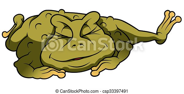 Relaxing Frog - csp33397491