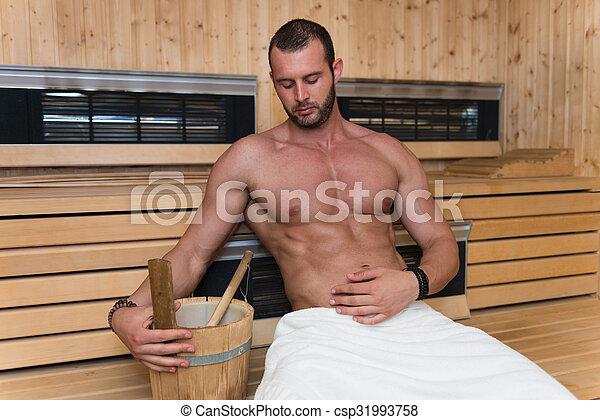 Relaxing In The Hot Sauna - csp31993758