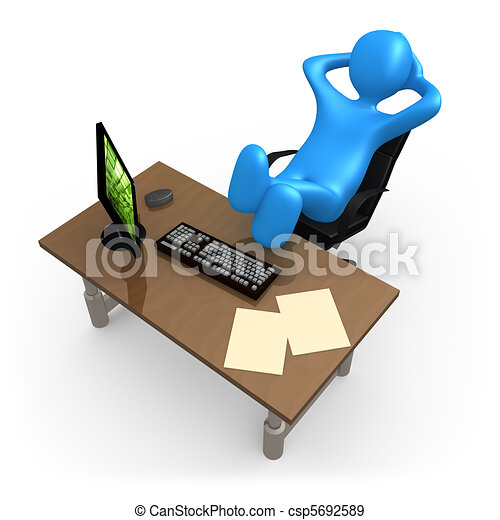 3d person relaxing in the office stock illustration search rh canstockphoto com clipart relaxing on the beach clipart relaxing on the beach