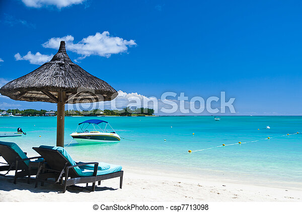 Relaxing in tropical paradise - csp7713098