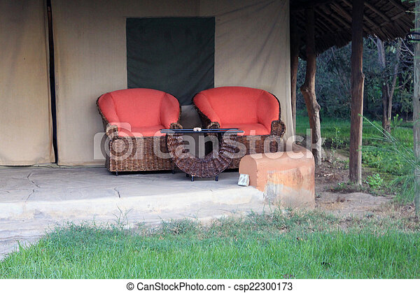 Relaxing Place In Cottage Balcony   Csp22300173