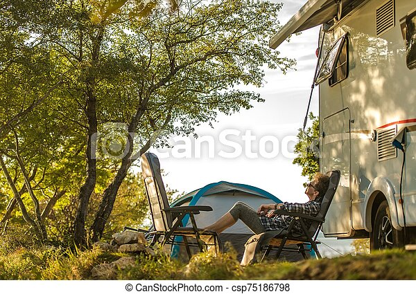Relaxing RV Road Trip - csp75186798