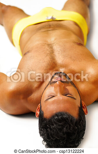 Relaxing sexy guy - csp13122224