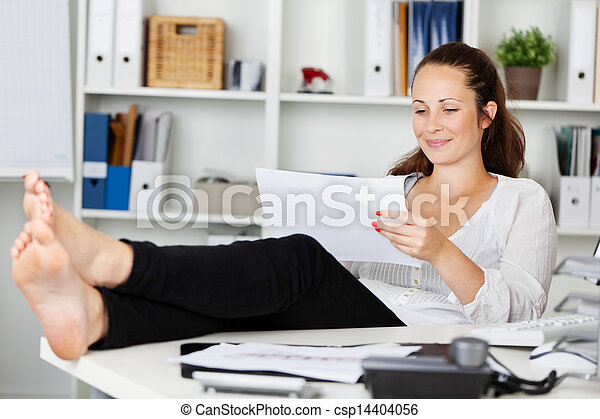 Relaxing woman - csp14404056