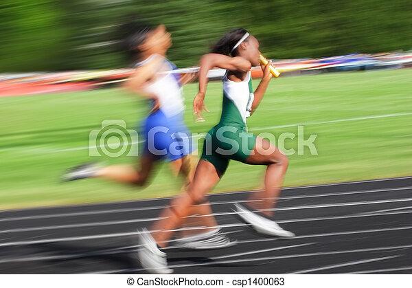 Relay race (motion blur) - csp1400063